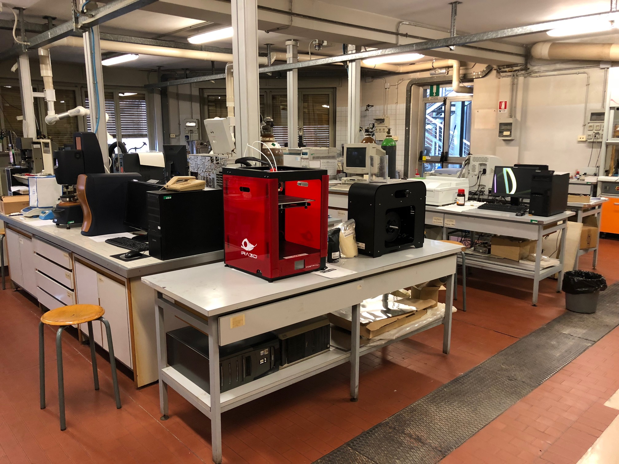 immagine dimostrativa dei macchinari del laboratorio Smart Factory and Materials Lab